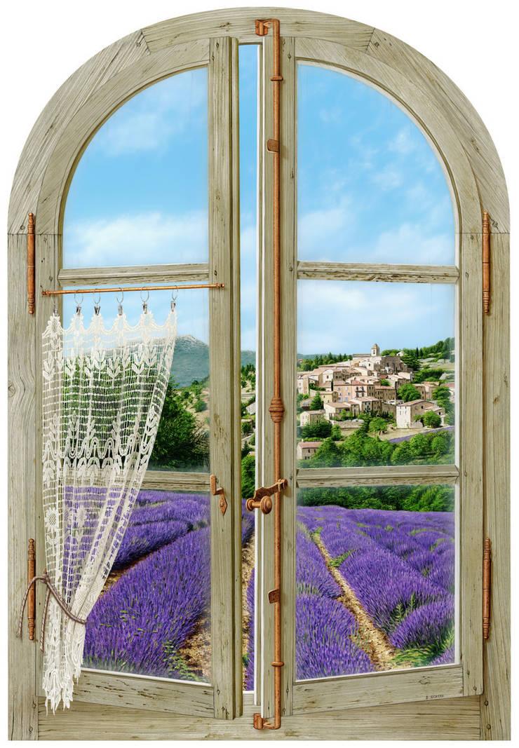 Senteur de Provence: Couloir, entrée, escaliers de style  par Bernard Scholl