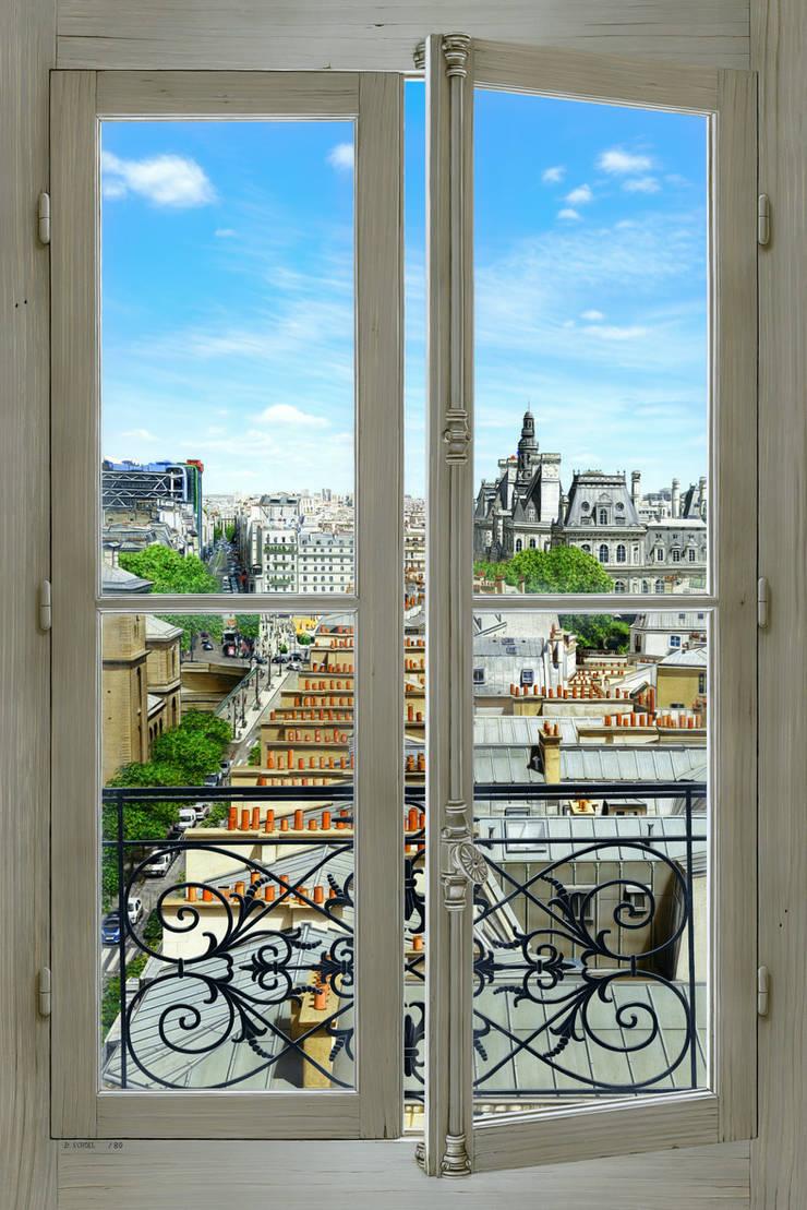 Georges & Jacques: Couloir, entrée, escaliers de style  par Bernard Scholl