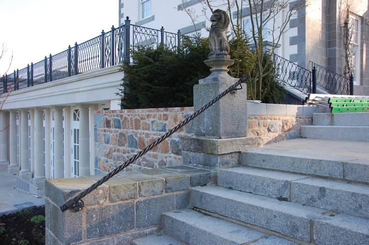 Guernsey Handrails:   by Unique Iron Design Ltd.