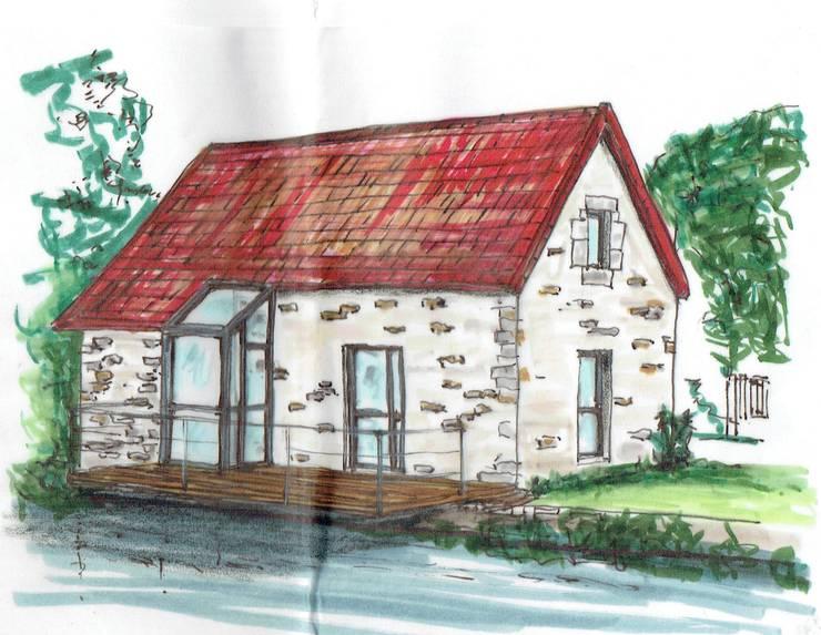 Croquis du projet: Maisons de style  par Christèle BRIER Architechniques