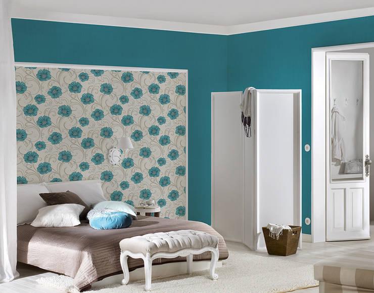 Dormitorio Chicago: Paredes y suelos de estilo  de Disbar Papeles Pintados