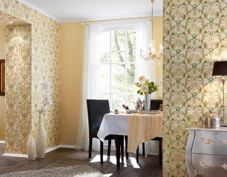 Comedor Hermitage 9: Paredes y suelos de estilo  de Disbar Papeles Pintados