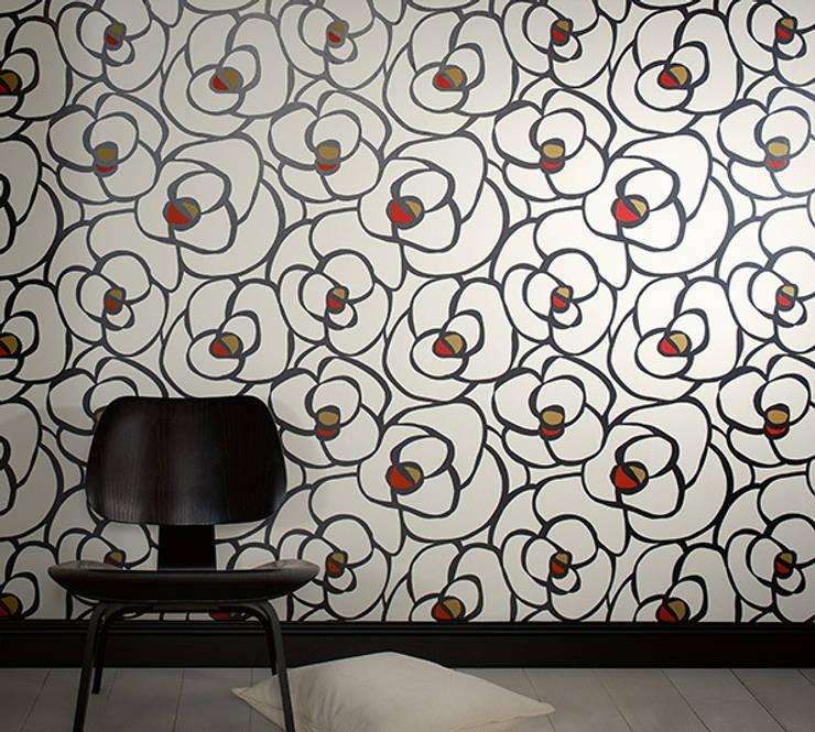 Dormitorio My Home by Raffi: Paredes y suelos de estilo  de Disbar Papeles Pintados