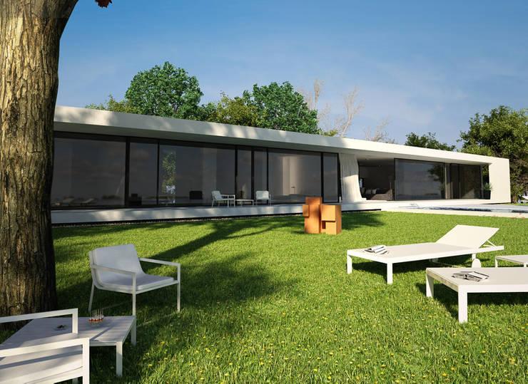 Exterior : Casas de estilo  de DUE Architecture & Design