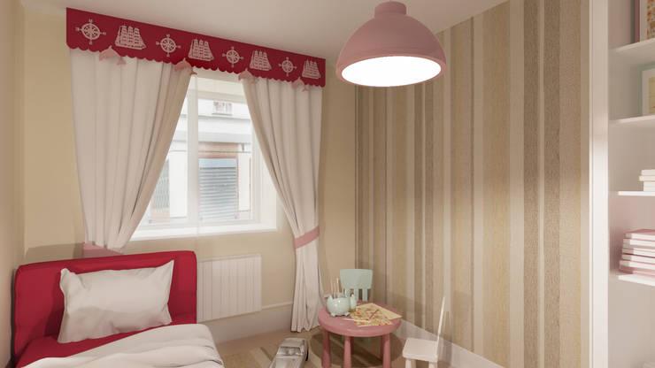 Ламбрекены и аппликации: визуализация в интерьере : Детская комната в . Автор – OK Interior Design,