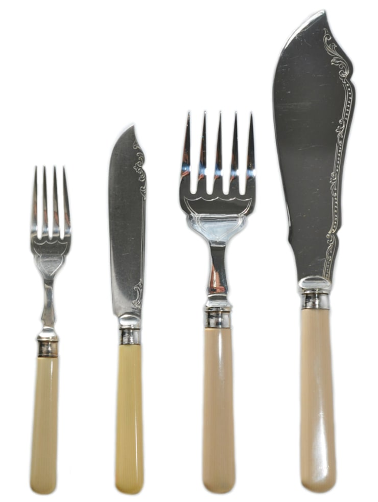Dining—Cutlery:  Dining room by Lavish Shoestring