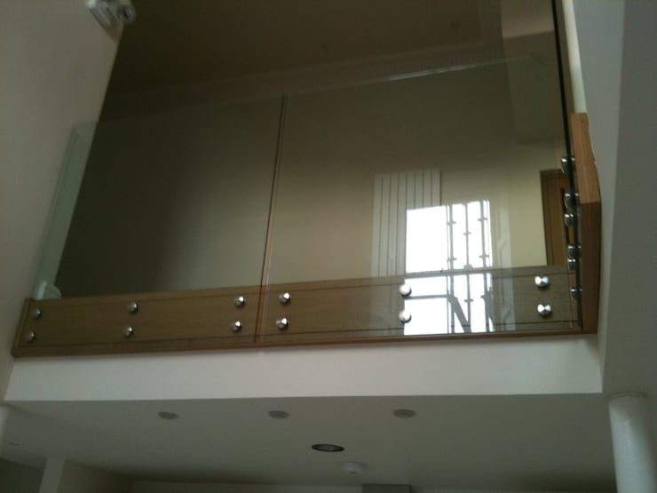 Oak & Glass Balustrade:   by Southside Glazing & Joinery