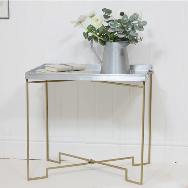 Zinc Tray Table:   by Loop the Loop