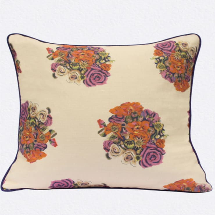 British Bouquet Cushion by Occipinti:  Living room by Anthea's Home Store