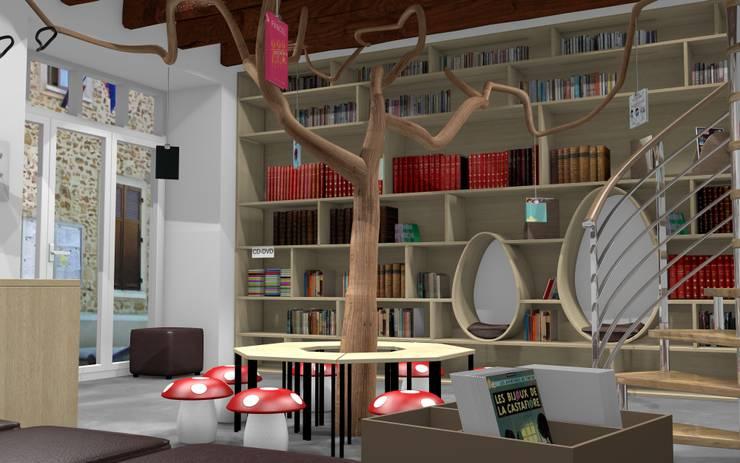 Projet de bibliothèque municipale: Ecoles de style  par 1001 idées