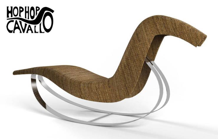 Il progetto in rattan e acciaio: Giardino in stile in stile Eclettico di Marco Braccini Architetto