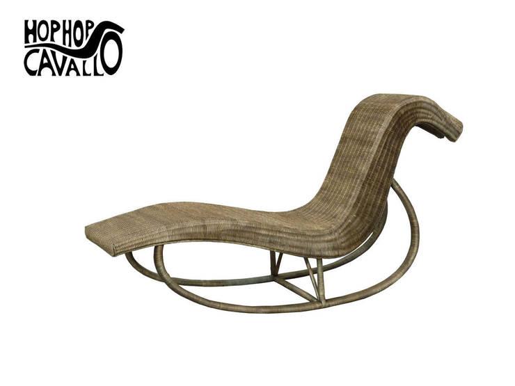 Il prototipo in rattan: Giardino in stile in stile Eclettico di Marco Braccini Architetto