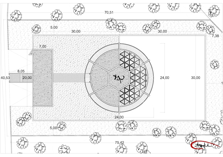 ONE-ZERO Eco-house:  de estilo  de Luis de Garrido