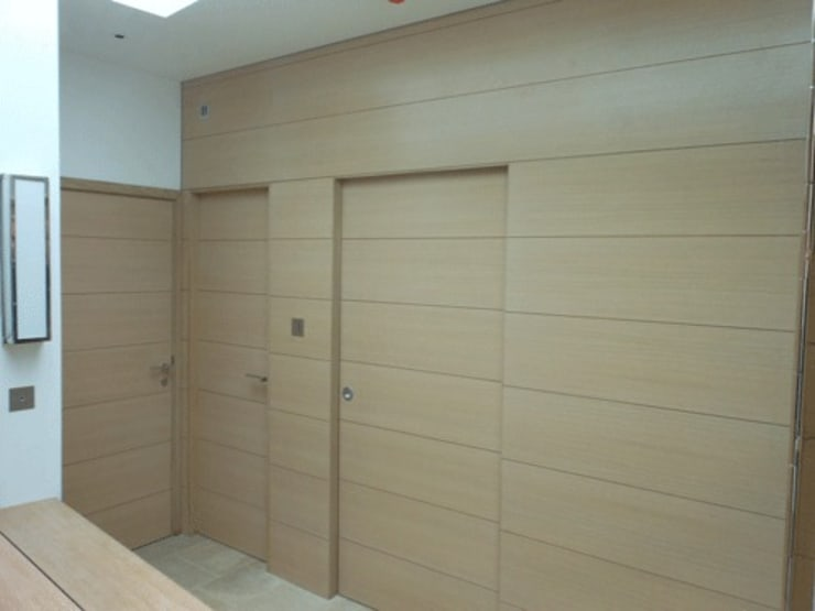 Combination of doors and panelling:  Windows & doors  by Modern Doors Ltd