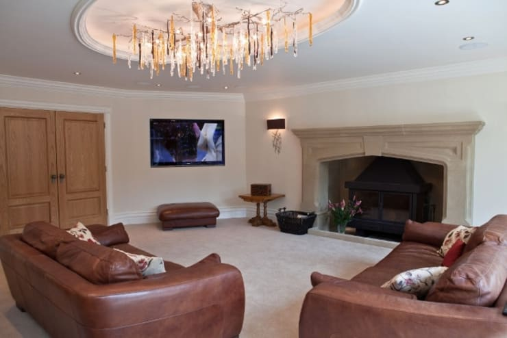 Lighting and Automation Systems:  Media room by Inspire Audio Visual