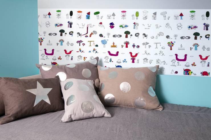 Murmures au Mur. Papel pintado para dibujar y colorear: Habitaciones infantiles de estilo  de Desdelfaro S.L.