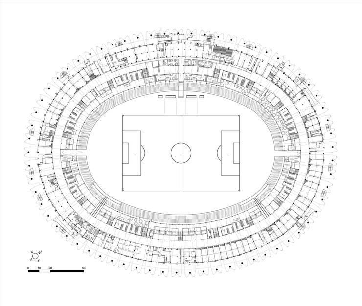 MODERNIZAÇÃO DO ESTÁDIO BEIRA-RIO: Estádios  por Hype Studio