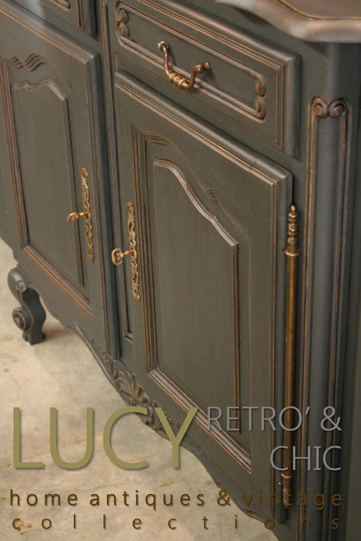 Credenza/Buffet Provenzale in Grafite e Oro: Sala da pranzo in stile  di LUCY retrò & chic