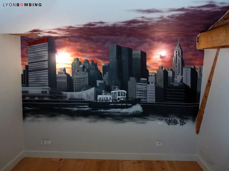 Vue de New York: Chambre de style  par Lyonbombing