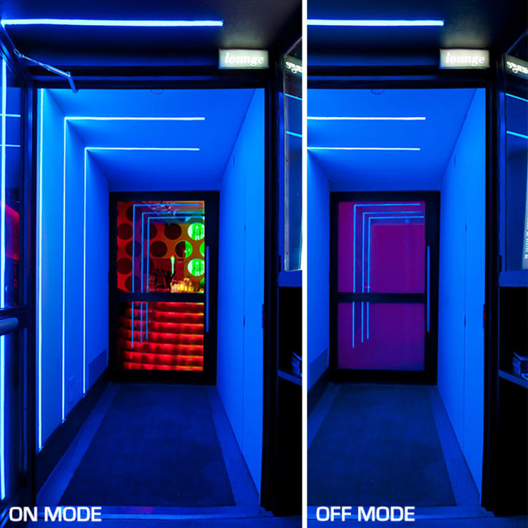 Sala Siroco en Madrid: Espacios comerciales de estilo  de Vidrios de privacidad