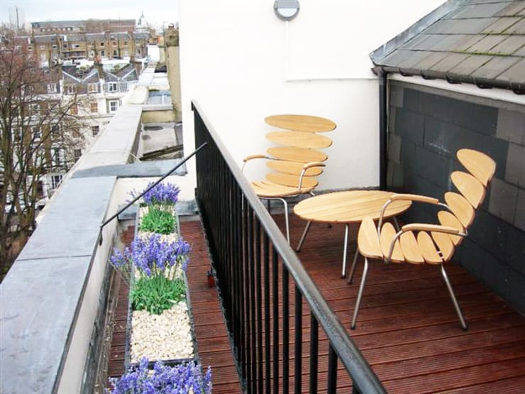 PROJECT: A 2-bed apartment in Bayswater.:  Terrace by Anna Hansson Design