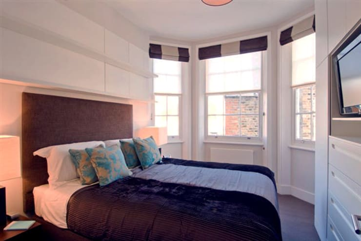 PROJECT: Penthouse in London's West-End. :  Bedroom by Anna Hansson Design