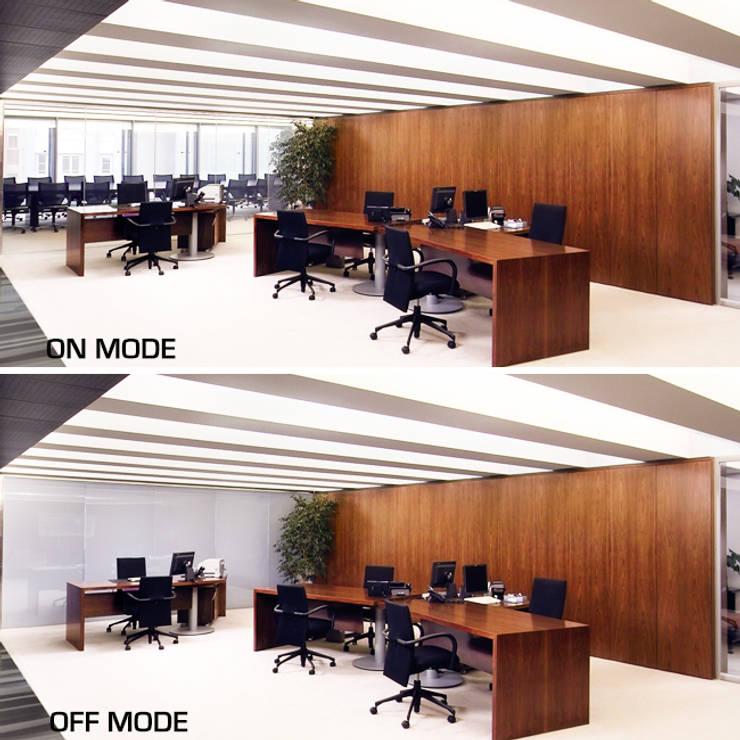 Oficinas centrales ASEPEYO: Edificios de oficinas de estilo  de Vidrios de privacidad