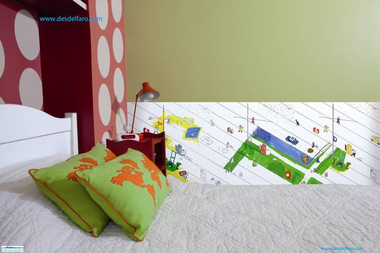 Sur le fil. Papel para dibujar y colorear: Habitaciones infantiles de estilo  de Desdelfaro S.L.