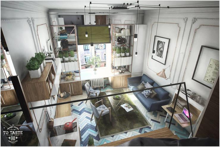 Вид с балкона: Гостиная в . Автор – ToTaste.studio