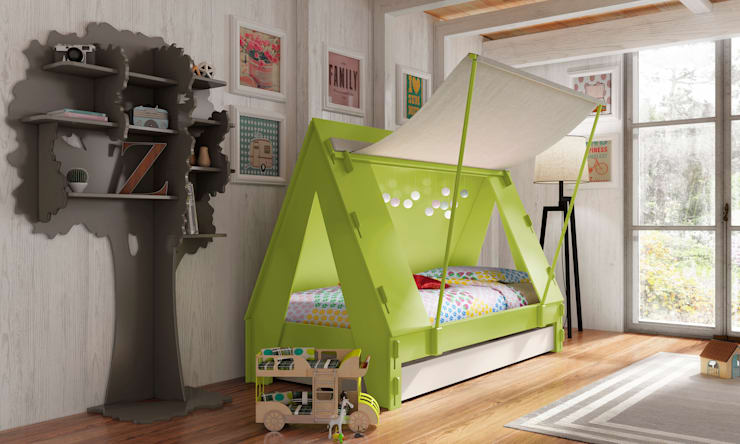 KIDS TENT BEDROOM CABIN BED in Green:  Nursery/kid's room by Cuckooland