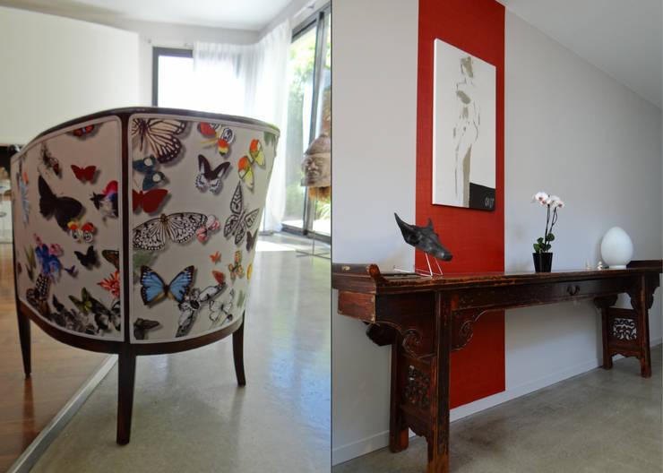 MELANGE DES GENRES: Salon de style de style eclectique par UN AMOUR DE MAISON