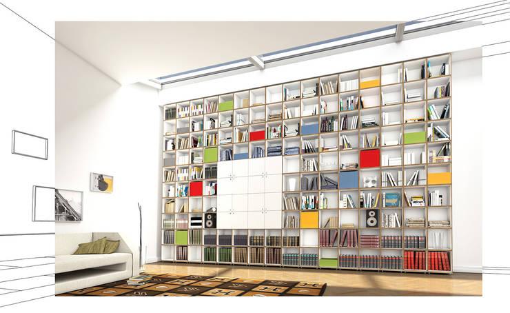 Bücherregal: modern  von stocubo - Das modulare Regalsystem,Modern