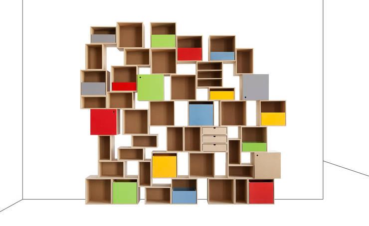 Individuelles Regal: moderne Kinderzimmer von stocubo - Das modulare Regalsystem