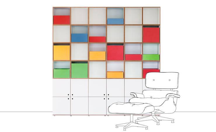 Wohnzimmerregal: modern  von stocubo - Das modulare Regalsystem,Modern