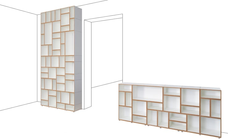 moderne Eetkamer door stocubo - Das modulare Regalsystem