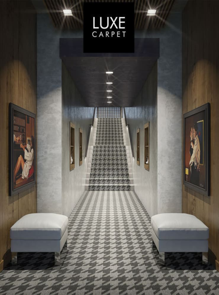 Houndstooth pattern carpet:  Walls & flooring by LUXEcarpet