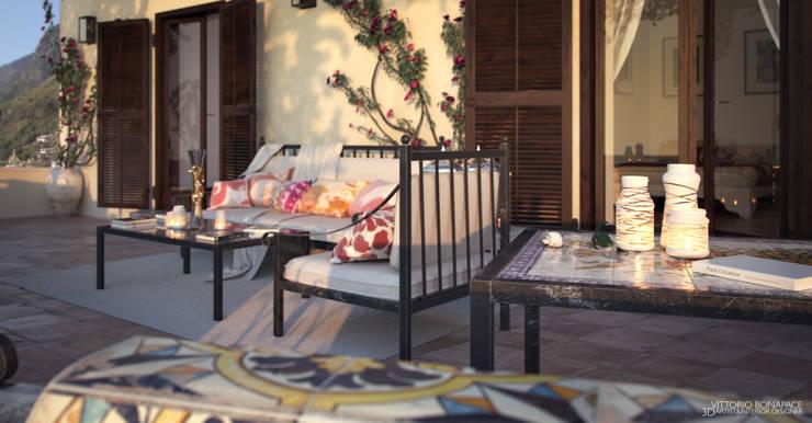 Terrazza: Terrazza in stile  di Vittorio Bonapace 3D Artist and Interior Designer,