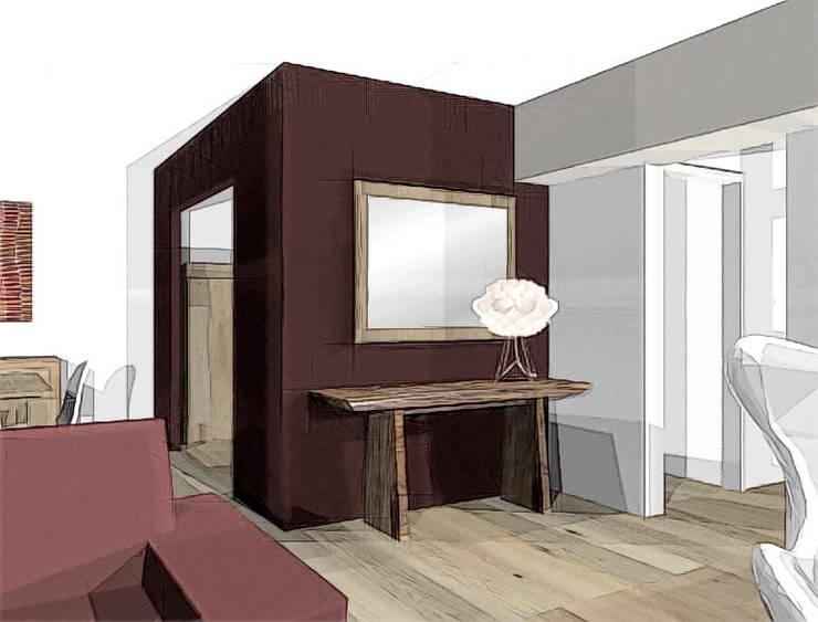 agencement et décoration séjour: Salon de style de style Colonial par agence concept decoration