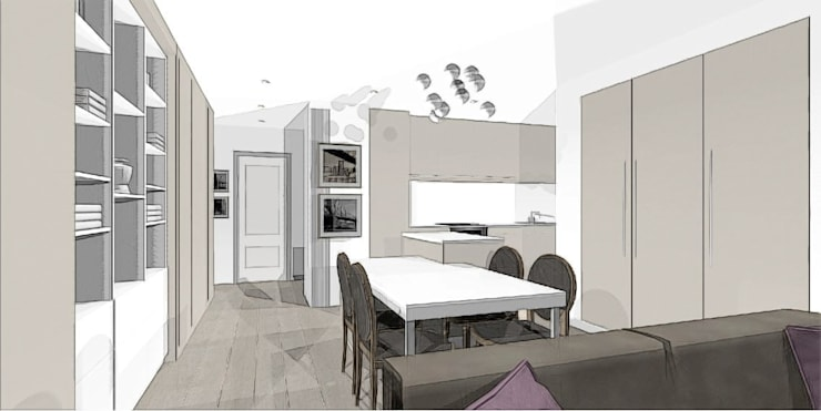 Séjour Cosy: Salon de style de style Classique par agence concept decoration