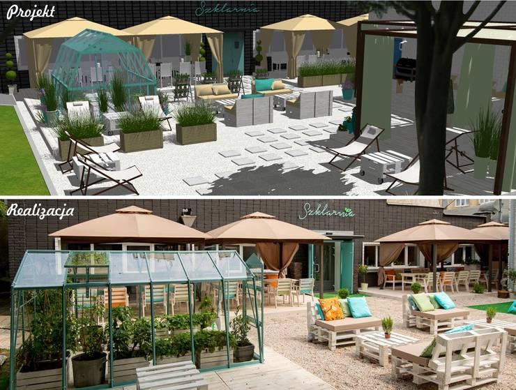 Restauracja Szklarnia: styl , w kategorii  zaprojektowany przez GREENERIA,Śródziemnomorski