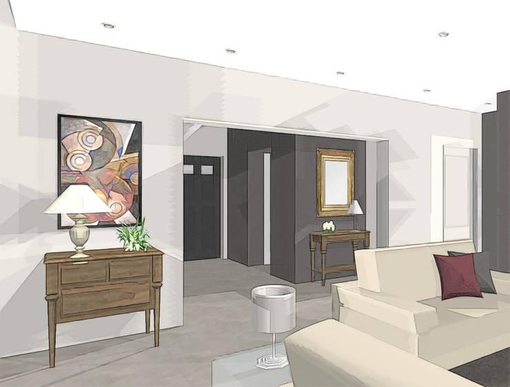 Intégration de meubles classiques dans une maison contemporaine: Maisons de style  par agence concept decoration