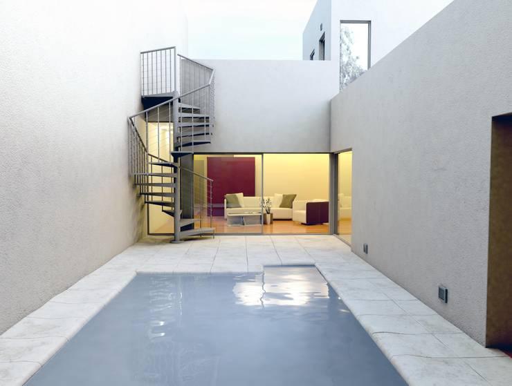 Escalera para terrazas:  de estilo  de Enesca