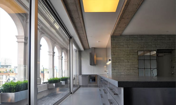 Shoreditch Church Penthouse:  Kitchen by Space Group Architects