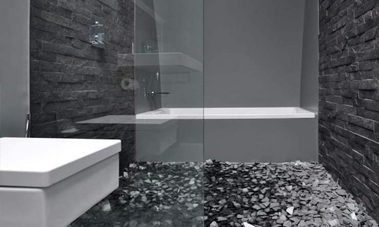 Shoreditch Church Penthouse:  Bathroom by Space Group Architects
