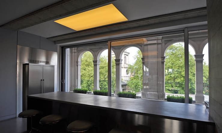 Shoreditch Church Penthouse:  Corridor & hallway by Space Group Architects