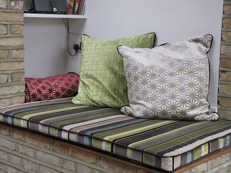Box Cushion and cushions:   by Misty Interior