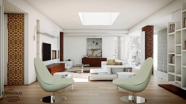 Living minimal style : Soggiorno in stile  di LANGOLO HOME LIVING ,
