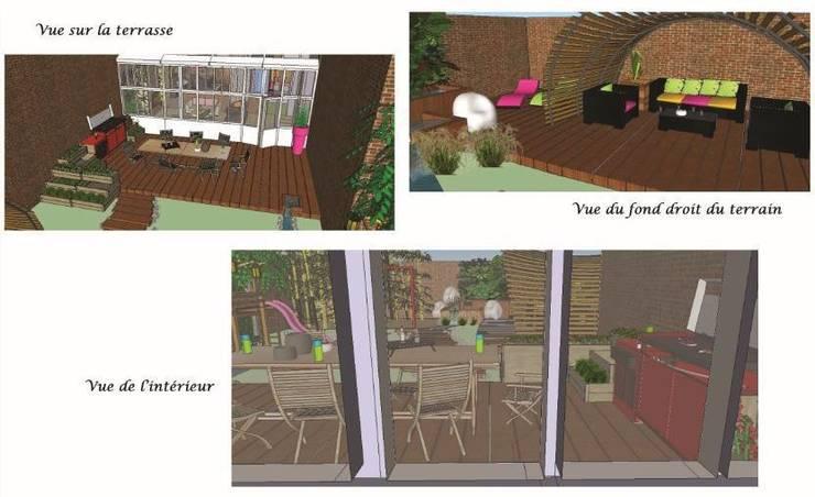 Vues 3D: Jardin de style  par Bulles d'Inspi