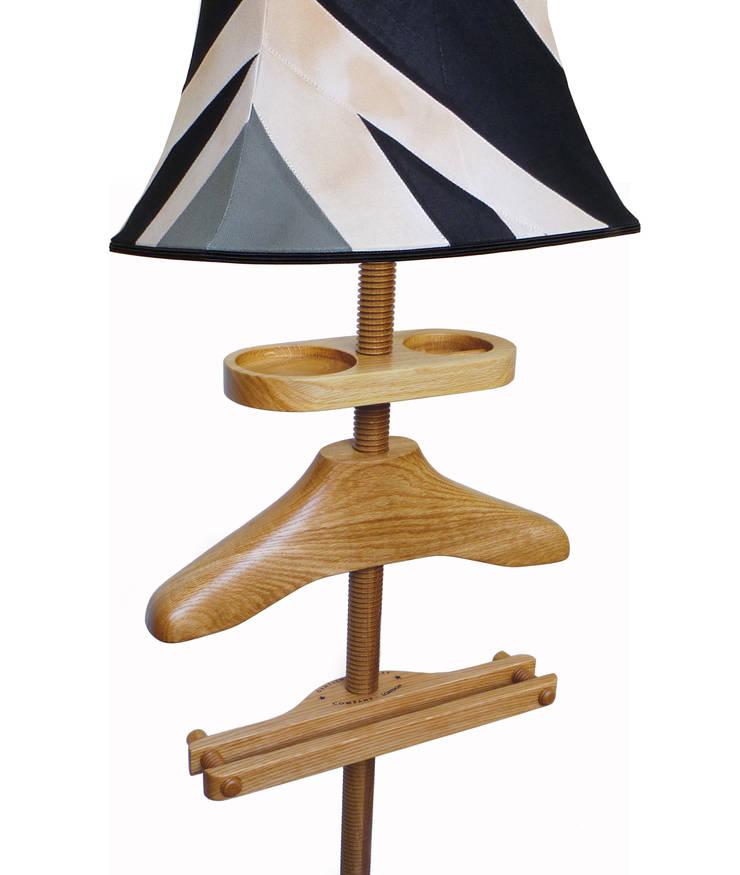 Standard Lamp Valet in oak:  Household by Gentleman's Valet Company