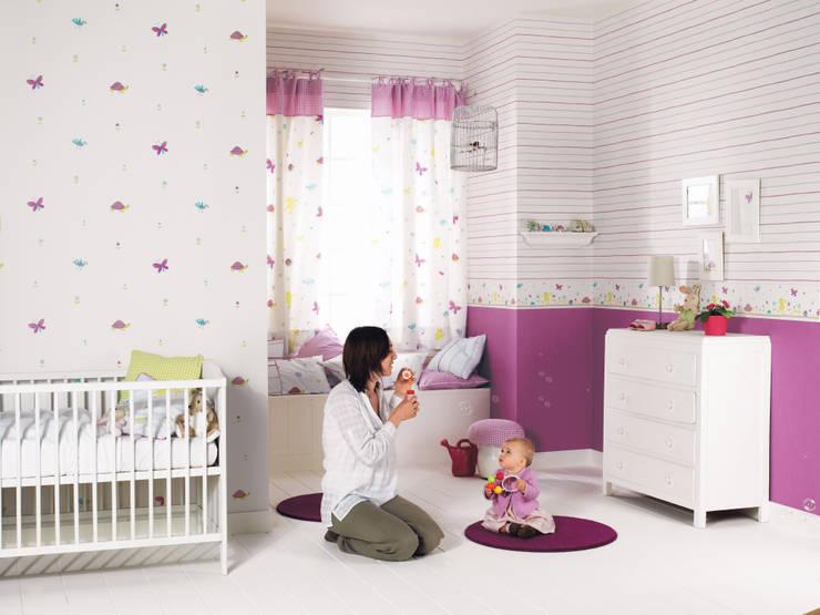 Casadeco Kindertapeten und Stoffe Happy World:  Kinderzimmer von Fantasyroom-Wohnträume für Kinder